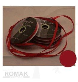 Central Craft Collection 3mm satin de Noël Ruban Rouge