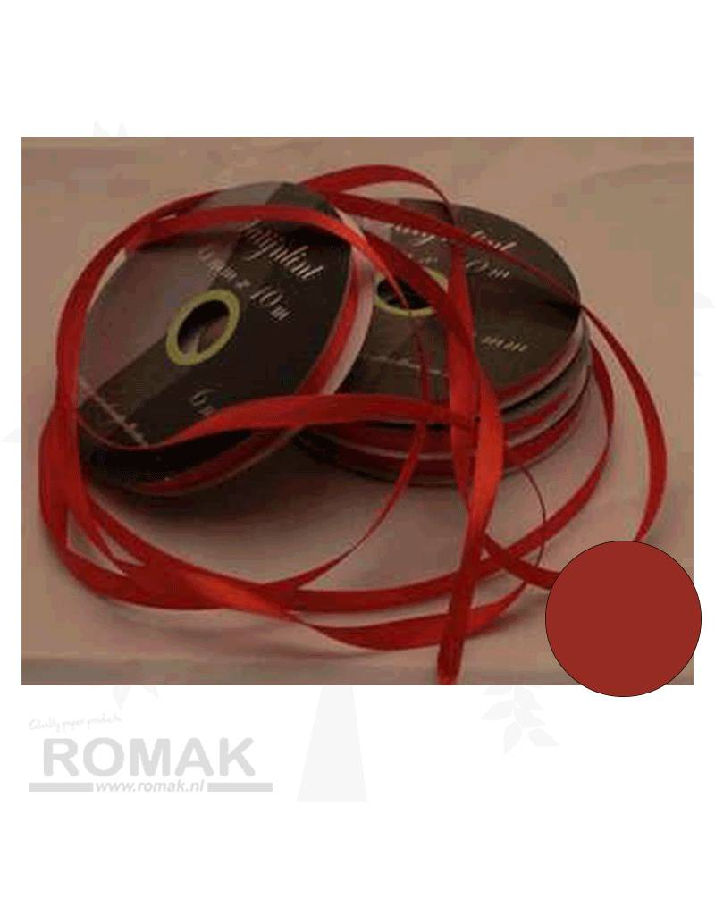 Central Craft Collection 3mm Satijnlint Rood