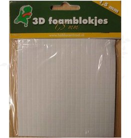 Hobbycentraal foam cubes 1,5mm