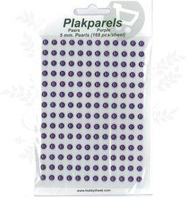 Hobbytheek Plak Parels Paars-Purple 5 mm