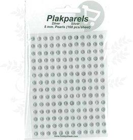 Hobbytheek Sæt Perler Sølv-sølv 5mm