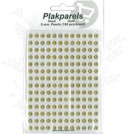Hobbytheek Indsæt Perler Guld Guld 5mm