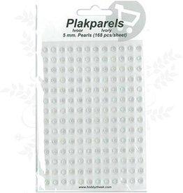 Hobbytheek Fügen Sie Perlen Elfenbein-Elfenbein 5mm