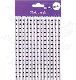 Hobby Idee Collez 3mm Perles Noir