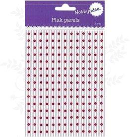 Hobby Idee Collez Perles Rouge 3mm