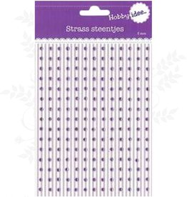 Hobby Idee Strass Steentjes Lila 3mm