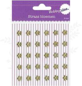 Hobby Idee Strass Bloemen Goud 8mm