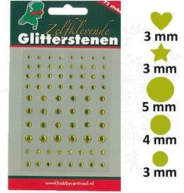Hobbycentraal Adhésif Glitter Pierres