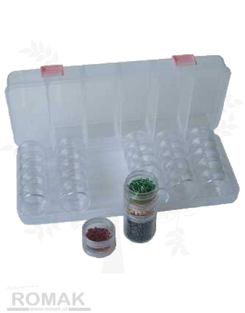 Hobbycentraal Bead dispenser inkl. Runde Containere