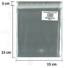 Hobbycentraal Greeting Card Bags Normal with adhesive 100st 150x150x35