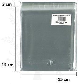 Hobbycentraal Grußkarte Taschen Normale mit Klebstoff 100st 150x150x35
