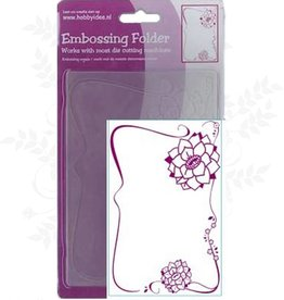 Central Craft Collection Embossing Folder 10,5x15cm Flower Ornament
