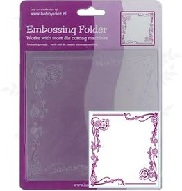 Central Craft Collection Embossing Folder 14x14cm Bloem Ornament
