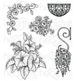 Heartfelt Classic Petunia Bouquet Cling Stamp Set