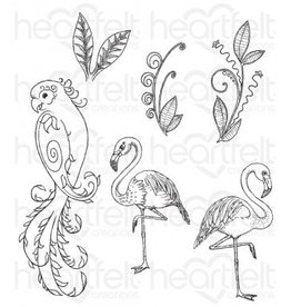 Heartfelt Tropical Paradise Cling Stamp Set