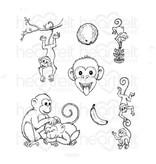 Heartfelt Monkey Antics Cling Stamp Set