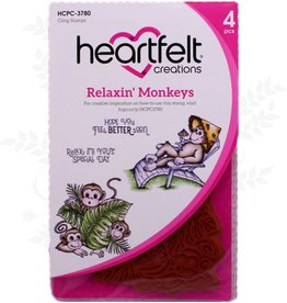Heartfelt Relaxin 'Monkeys Cling Stempel Set