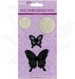 Hobby Idee Mal Papillons Cut 2 pièces restent en papier