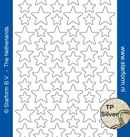 Starform Stjerne Glitter Stickers
