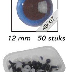 Le Suh Veiligheids Ogen blauw 12mm 50st
