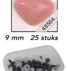 Le Suh Driehoeks neus rose 9mm 25 st