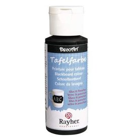 Rayher Schoolbordverf glas & porselein, zwart, flacon 59 ml.