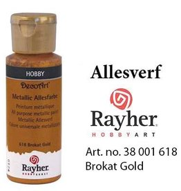 Rayher Metallic Allesverf Brokat goud