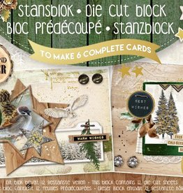 Studiolight STANSBLOK A5, CONTENT 12 SHEETS DIE CUT FOLIE, WOODLAND WINTER