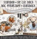 Studiolight STANSBLOK A5, CONTENT 12 SHEETS DIE CUT FOLIE, FROZEN FOREST