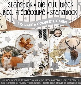 Studiolight STANSBLOK A5, CONTENT 12 SHEETS DIE CUT FOLIE, FROZEN FOREST