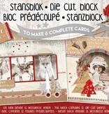 Studiolight STANSBLOK A5, CONTENT 12 SHEETS DIE CUT FOLIE, NORDIC WINTER