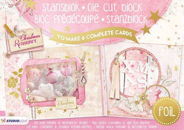 Studiolight STANSBLOK A5, CONTENT 12 SHEETS DIE CUT FOLIE, CHRISTMAS ROMANCE