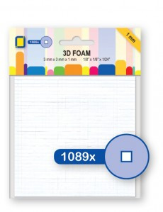 Je Je Produkt 3D Foam blokjes 3mm x 3mm x 1mm