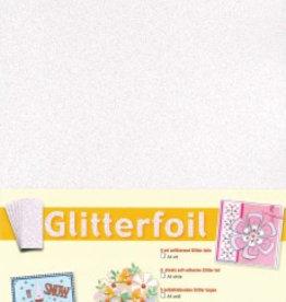 Je Je Produkt Glitterfolie wit