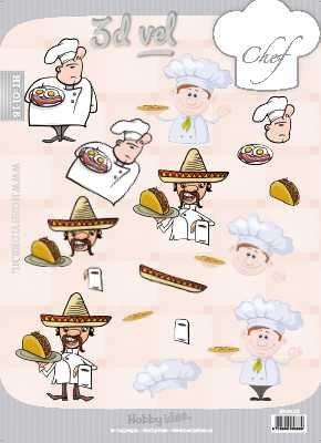 Hobby Idee 3D vel Chef koken Hobbyidee