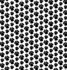 Hobby Idee HI A4 Basisvel Hondenpootjes Zwart
