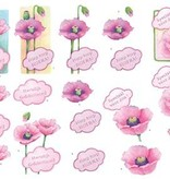 Wekabo 3D vel Bloemen Hartelijk Gefeliciteerd