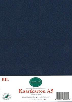 Hobbycentraal A5 Kaartkarton 20 vel donker blauw
