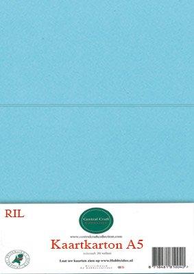 Hobbycentraal A5 Kaartkarton 20 vel licht blauw