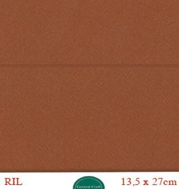 Hobbycentraal Kaartkarrton 13,5_27 cm   20 vel   20 vel bruin