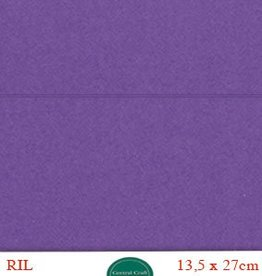 Hobbycentraal Kaartkarrton 13,5_27 cm   20 vel paars