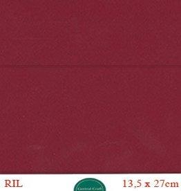 Hobbycentraal Kaartkarrton 13,5_27 cm   20 vel bordeaux