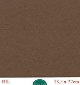 Hobbycentraal 13,5 x 27 cm Kaartkarton Bruin