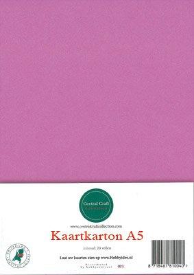 Hobbycentraal A5 Kaartkarton 20 vel donker roze