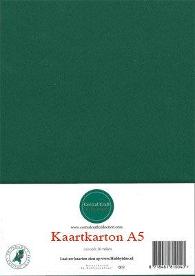 Hobbycentraal A5 Kaartkarton 20 vel kerst groen