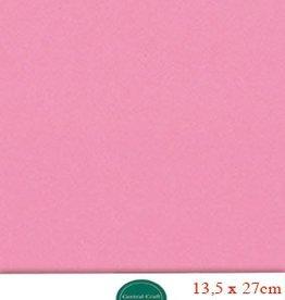 Hobbycentraal 13,5 x 27 cm Kaartkarton roze