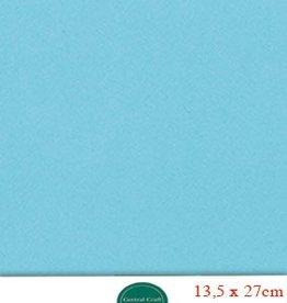 Hobbycentraal 13,5 x 27 cm Kaartkarton licht blauw
