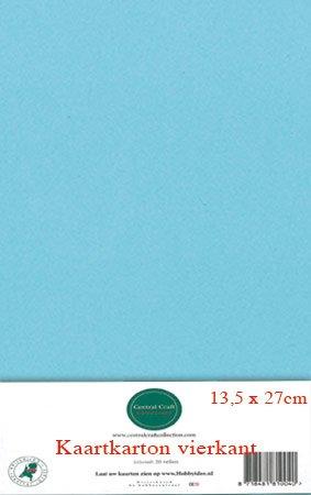 Hobbycentraal 13,5 x 27 cm Kaartkarton   20 vel  licht blauw