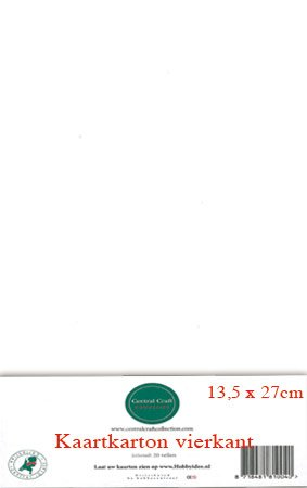 Hobbycentraal 13,5 x 27 cm Kaartkarton wit