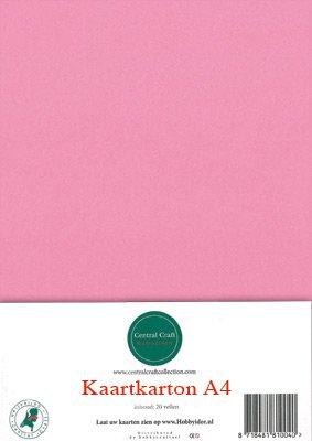 Hobbycentraal A4 Kaartkarton roze